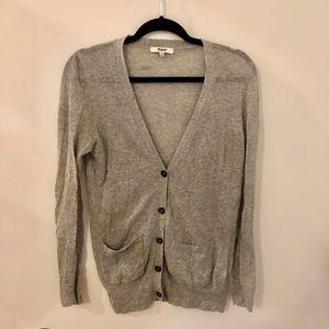 Madewell thin gray cardigan